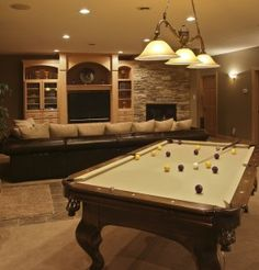 Some day I want a pool table in my living room...they're so much fun!