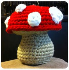 Toadstool Amigurumi Pattern. crochet, tutorial with photos