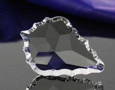 Charm colgante 76 MM, colgante de cristal, 20 unids/lote, vidrio accesorios de decoración colgante de cristal de la hoja de arce de la boda y del partido(China (Mainland))