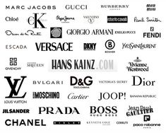 High-end Designer Clothing Brands high end fashion logos