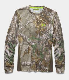 Men's UA Tech™ Scent Control Long Sleeve T-Shirt, REALTREE AP-XTRA, Laydown