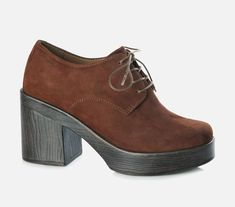 Vagabond - MARVA. This   style is just so cool! We love the wood inspired heel and the fine lace up as   a finish to our outfit.