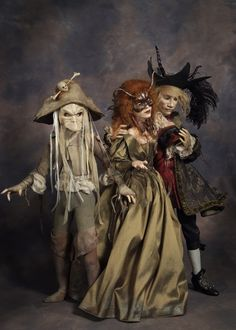 Models of some of the dancers from the ballroom scene in Labyrinth, by Wendy Froud.