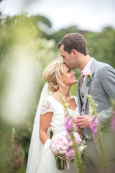 Two beautiful people in love.  From 'An Elegant Summer Time and Vintage Inspired Gaynes Park Wedding'.  Photography by http://www.dominicwhiten.co.uk/