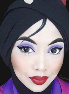Pin By Ade Darmayani On Hijab Pinterest - Makeup artist uses hijab to transform herself into disney characters