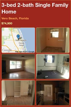 3-bed 2-bath Single Family Home in Vero Beach, Florida ►$74,900 #PropertyForSale #RealEstate #Florida http://florida-magic.com/properties/7263-single-family-home-for-sale-in-vero-beach-florida-with-3-bedroom-2-bathroom