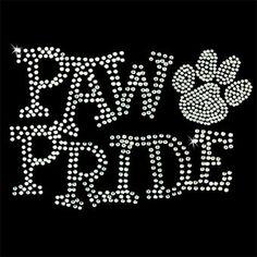 Paw Pride rhinestone Shirt  Crystal by SparklebyKnight on Etsy, $22.00