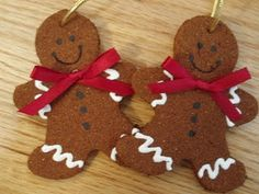 Spiced-Gingerbread Men Tree Ornaments