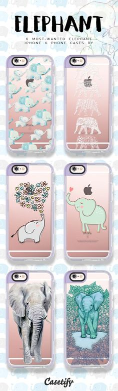 Top 6 elephant iPhone 6 protective phone case designs | Click through to see more iPhone phone case designs >>> ... #animal@Casetify