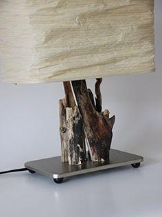 TreibKunst Design Tischlampe aus Treibholz BALTIC SWAN - Unikat Made in Germany, Massives Holz von der Ostsee in Handarbeit – LED – Tischleuchte: Amazon.de: Handmade