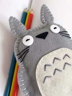 iphone cozy with button eyes @Molli Meyer TOTORO