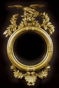 Hyde Park Antiques, Ltd. Gold Framed Mirror, Convex Mirror, Framed Art, Wall Mirror, Georgian Furniture, Colonial Furniture, Antique Frames, Antique Mirrors, Victorian Mirror