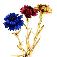 UniteStone Gifts For Mom in Artificial Flowers 24K Gold Foil 3 Pack  #DecorativeAccessories