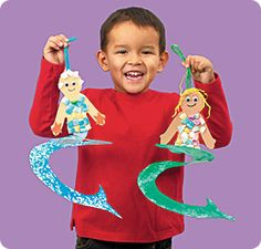 silly sea creature craft at Lakeshore Learning - Fisch Krafts Ideen Ocean Crafts, Beach Crafts, Summer Crafts, Summer Art, Diy Crafts, Sea Creatures Crafts, Projects For Kids, Crafts For Kids, Art Projects