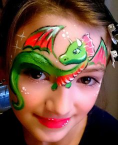 Dragon face paint… Must learn… Love this simple yet detailed dragon Dragon face paint… Must learn… Love this simple yet detailed dragon Dinosaur Face Painting, Monster Face Painting, Dragon Face Painting, Face Painting For Boys, Face Painting Designs, Body Painting, Animal Face Paintings, Animal Faces, Christmas Face Painting