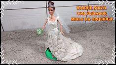 DIY - Como fazer vestido de noiva em eva para Barbie