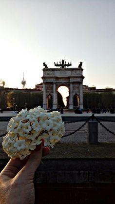 L'Arco della Pace. Milan. Spring. Twilight. Italy.