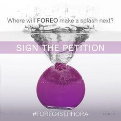 Ho firmato la petizione FOREO 4 SEPHORA e vorrei che LUNA venisse venduta da @Sephora! #FOREO4SEPHORA @FOREO_skincare