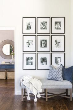 Ways To Use That Room Below Your Stairs Masculine, Comfortable, And Elegant: A California Home By Lauren Evans Interiors Rue Home Living Room, Living Room Decor, Living Spaces, Bench In Living Room, Living Room Gallery Wall, Gallery Wall Layout, Art Gallery, Foyer Decorating, Deco Design