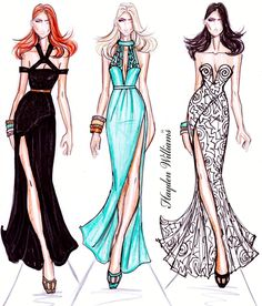 Hayden Williams Fashion Illustrations | Hayden Williams RTW Spring/Summer 2012…