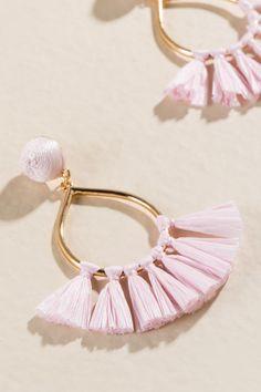 Alma Raffia Tassel Earrings