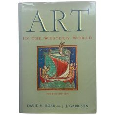 "Vintage ""Art In The Western World"" Art & Architecture Book ($110) ❤ liked on Polyvore featuring books"
