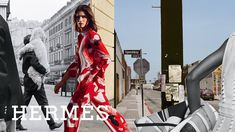 Fantasy City, Hermes, Duster Coat, Wrap Dress, Jackets, Outfits, Editorial, Father, Outfit Ideas