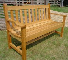 Oak Garden Bench - Ludetz.com
