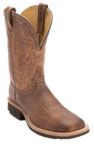 Tony Lama Mens Vintage Tan Brown Smooth Ostrich Exotic Wide Square Toe Crepe Boot | Cavender's