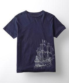 Loving this Navy Pirate Ship Tee - Kids on #zulily! #zulilyfinds