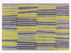TETTA GREYS Wool Grey and yellow wool rug - Rugs- HabitatUK