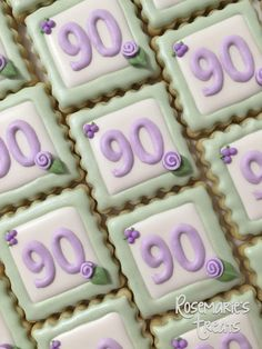 70th Birthday Cookies By Mercibeaucookies Blogspot Com
