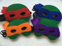 8 Teenage Mutant Ninja Turtle TMNT Mask Birthday Party Supplies Party Favors