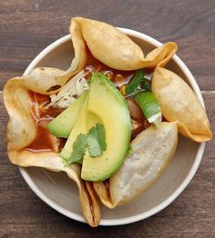 This Chicken Soup In A Tortilla Bowl Is Pure Comfort Food