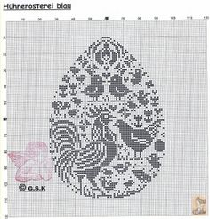® chicken and egg cross stitch