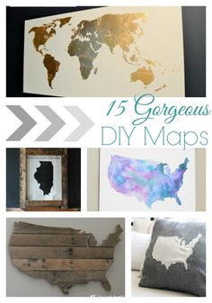 15 gorgeous diy map art ideas. There are so many great ideas here - there is something perfect for any room and any style.