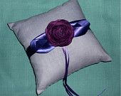 Ring bearer pillow - with yellow ribbon/flower instead perhaps