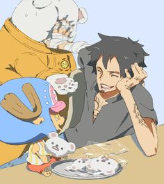 Trafalgar D Water Law Tony Tony Chopper Bepo One Piece One Piece 1, One Piece Fanart, One Piece Anime, Old Anime, Manga Anime, One Piece Chopper, Rivamika, Go Wallpaper, One Piece Pictures