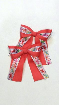 """Horse Show bows. Small Equestrian style short tail bows.  Girls 4""""×4"""" Rainbow Unicorn bow. pair of bows for riding, horse shows and for fun by TastefullyTackE on Etsy"""