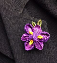 Mens Lapel Pin Flower Lapel Pin Iris Kanzashi Pin Purple Lapel Flower Custom Lapel Pins Men Purple Boutonniere Groomsmen Gifts For Him by exquisitelapel on Etsy https://www.etsy.com/listing/496183651/mens-lapel-pin-flower-lapel-pin-iris