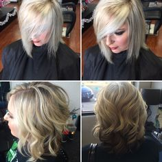 Short blonde bob Short Blonde Bobs, Amanda, Dreadlocks, Hair Styles, Beauty, Beleza, Dreads, Hair Looks, Cosmetology