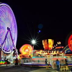 Discovered by Dominic Rodriguez Photography: Colorful rides at the State Fair Park in Milwaukee, WI.