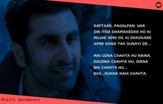 The YJHD dialogues have greatly portrayed the idea of living oneself's dream, taking chances, traveling, and love. Rare Words, Powerful Words, Yjhd Quotes, Hindi Quotes, Quotations, Cinderella Quotes, Filmy Quotes, Travel Captions, Movie Dialogues
