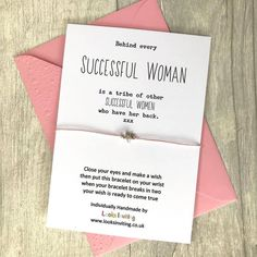 Successful Woman Wish Bracelet by Looks Inviting with Free UK Delivery Christmas Gifts For Boyfriend, Boyfriend Gifts, Wish Bracelets, Handmade Bracelets, Gifts For Mum, Little Gifts, Best Friend Gifts, Gifts For Friends, Successful Women