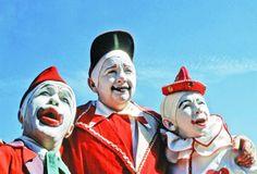 Three vintage clowns