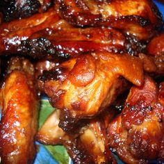 Oven baked honey garlic chicken wings,Chicken wings with honey,garlic and soy sauce baked in convection oven.Excellent appetizer! Delicious!!!