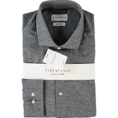 Charcoal Marl Slim Fit Shirt Stylish Shirts, Formal Shirts, Tk Maxx, Workout Shirts, Shirt Outfit, Charcoal, Slim, Blazer, Long Sleeve