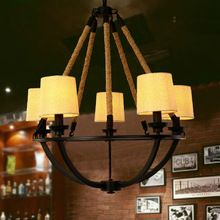 US $364.01 100v 220v Loft Iron Rope Clothes Cloth Shade Chandelier Lighting Chandeliers For Dining Room Big Chandelier Lustre De Sala 24. Aliexpress product