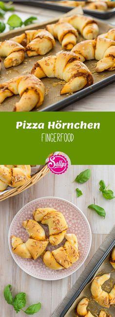 Super für jede Party! Würzige Pizza-Hörnchen  #fingerfood
