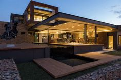 Nico van der Meulen Architects have designed House Boz located in Pretoria, South Africa.